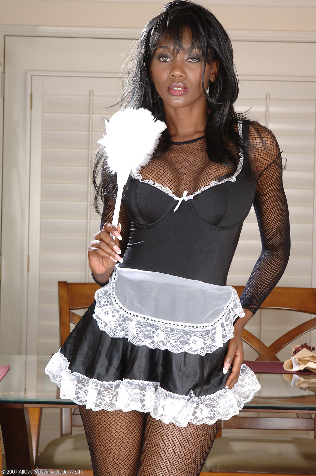 fuck the black maid - interracial - xxx photos