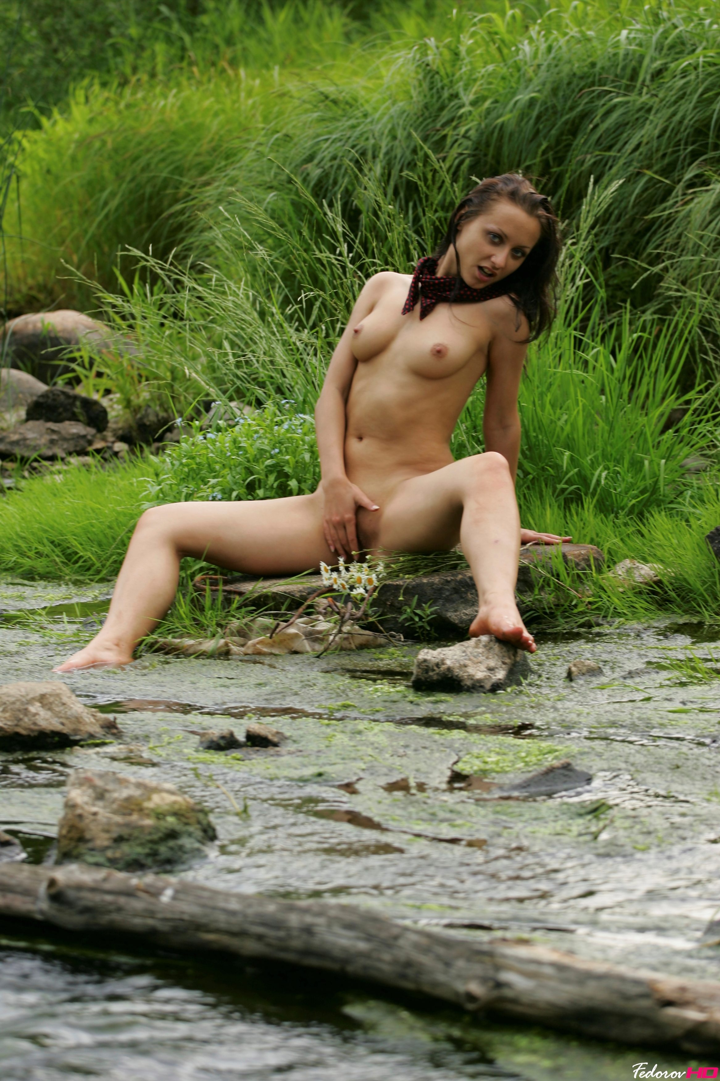 Nude girl in swamp exposed pic